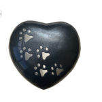 Urne Funéraire Cœur Avec Patte : Noir, Rouge, Or et Gris